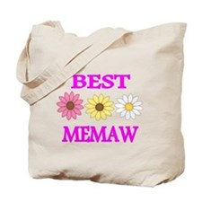 BEST MEMAW WITH FLOWERS 2 Tote Bag