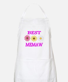 BEST MEMAW WITH FLOWERS 2 Apron