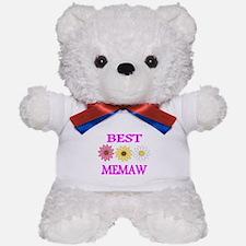 BEST MEMAW WITH FLOWERS 2 Teddy Bear