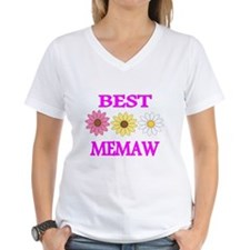 BEST MEMAW WITH FLOWERS 2 T-Shirt
