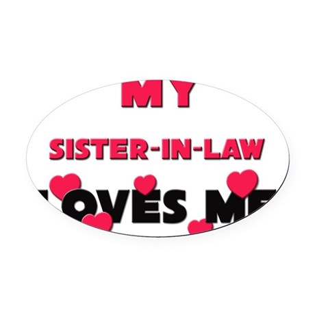 SISTER-IN-LAW Oval Car Magnet