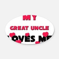 GREAT-UNCLE Oval Car Magnet
