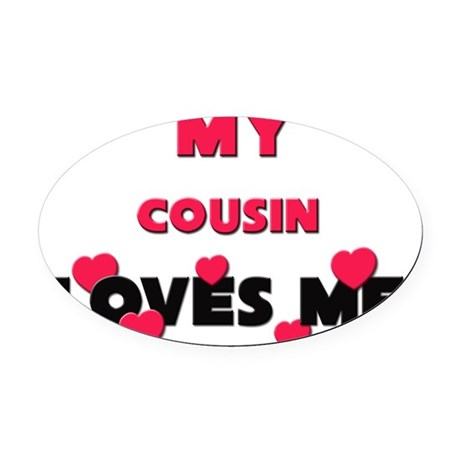 COUSIN Oval Car Magnet