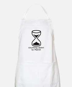 counting down March due date BBQ Apron