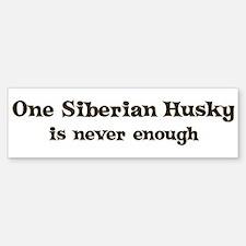 One Siberian Husky Bumper Bumper Bumper Sticker