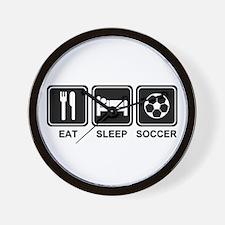 EAT SLEEP SOCCER Wall Clock