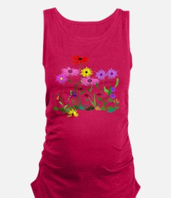 Flower Bunch Maternity Tank Top