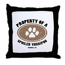 Yorkipoo dog Throw Pillow