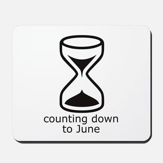 counting down June due date Mousepad