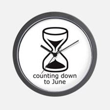 counting down June due date Wall Clock