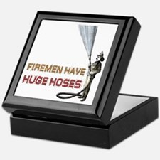 Funny Firefighter Keepsake Box