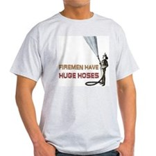Funny Firefighter Ash Grey T-Shirt