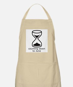 counting down June due date BBQ Apron