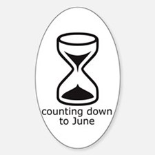 counting down June due date Oval Decal