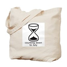 counting down July due date Tote Bag