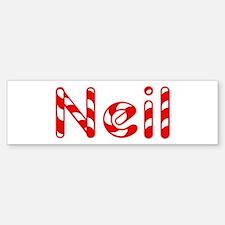 Neil - Candy Cane Bumper Bumper Bumper Sticker