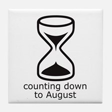 counting down August due date Tile Coaster