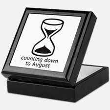 counting down August due date Keepsake Box