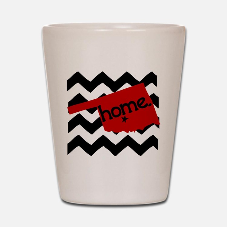 Oklahoma HOME State Crimson Shot Glass