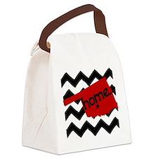 Oklahoma HOME State Crimson Canvas Lunch Bag