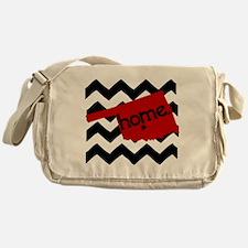 Oklahoma HOME State Crimson Messenger Bag