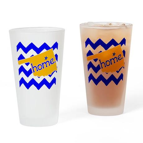 Oklahoma HOME State Tulsa Tee Drinking Glass