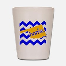 Oklahoma HOME State Tulsa Tee Shot Glass