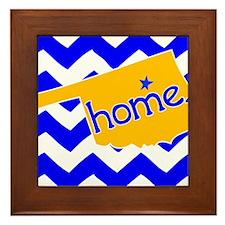 Oklahoma HOME State Tulsa Tee Framed Tile