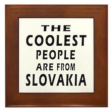 The Coolest Slovakia Designs Framed Tile