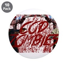 """Zombies 3.5"""" Button (10 pack)"""