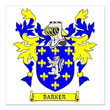 """BARKER Square Car Magnet 3"""" x 3"""""""