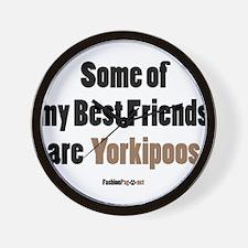 Yorkipoo dog Wall Clock