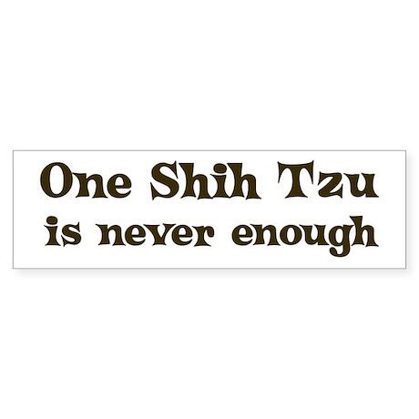 One Shih Tzu Bumper Sticker