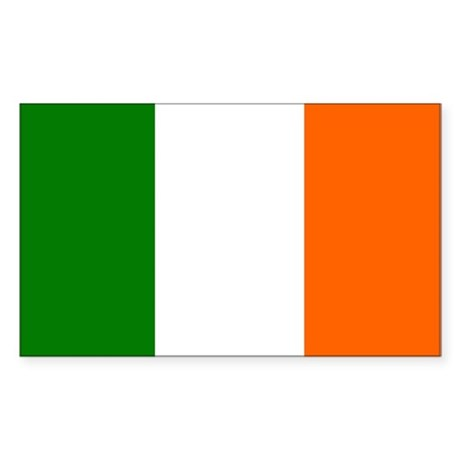 Irish Tricolor Flag Sticker (Rectangular
