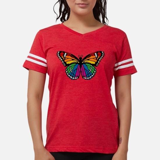 butterfly-rainbow2.png Womens Football Shirt
