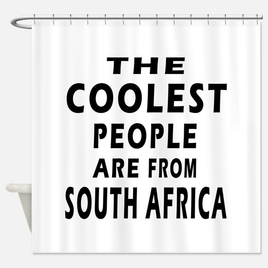 The Coolest South Africa Designs Shower Curtain