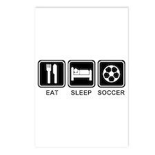EAT SLEEP SOCCER Postcards (Package of 8)