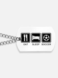 EAT SLEEP SOCCER Dog Tags
