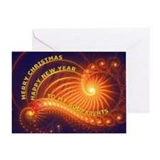 For godparents, a Christmas wish Greeting Card