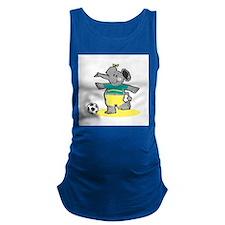 soccer elephant copy.jpg Maternity Tank Top