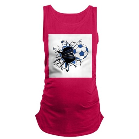 soccer rip thru copy.jpg Maternity Tank Top