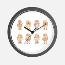 One of These Poodles! Wall Clock