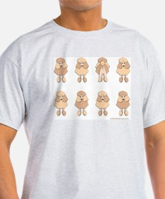 One of These Poodles! Ash Grey T-Shirt