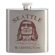 Chief Seattle Flask