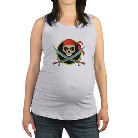 pirate skull circle design.jpg Maternity Tank Top