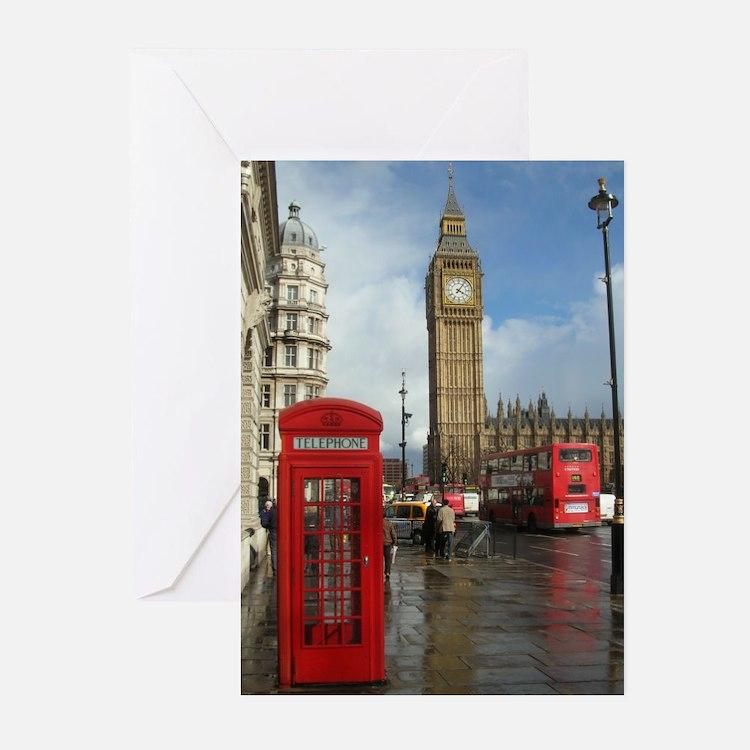 London phone box Greeting Cards (Pk of 20)