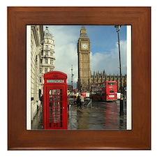 London phone box Framed Tile