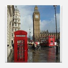 London phone box Tile Coaster