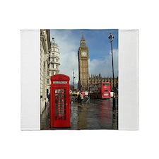 London phone box Throw Blanket