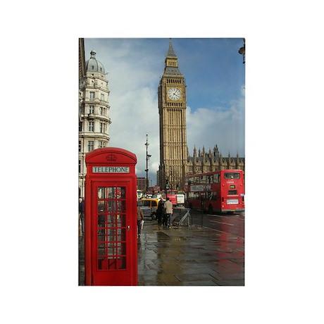 London phone box Rectangle Magnet